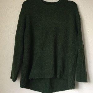 Zara Knit soft green long sleeve sweater